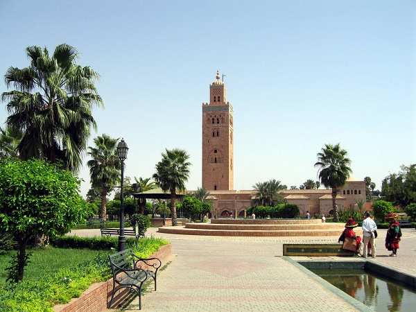 Koutoubia Mosque , a major Marrakech landmark