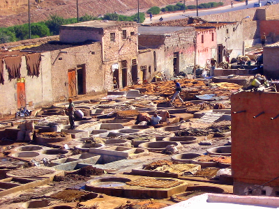 Visiting the tanneries in Marrakech - why you should do it