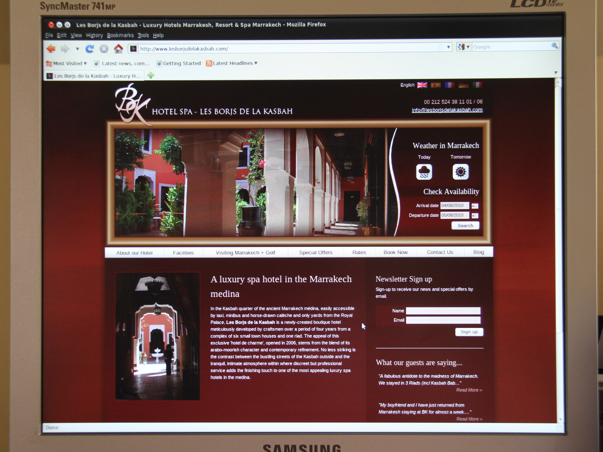 New website for Les Borjs de la Kasbah