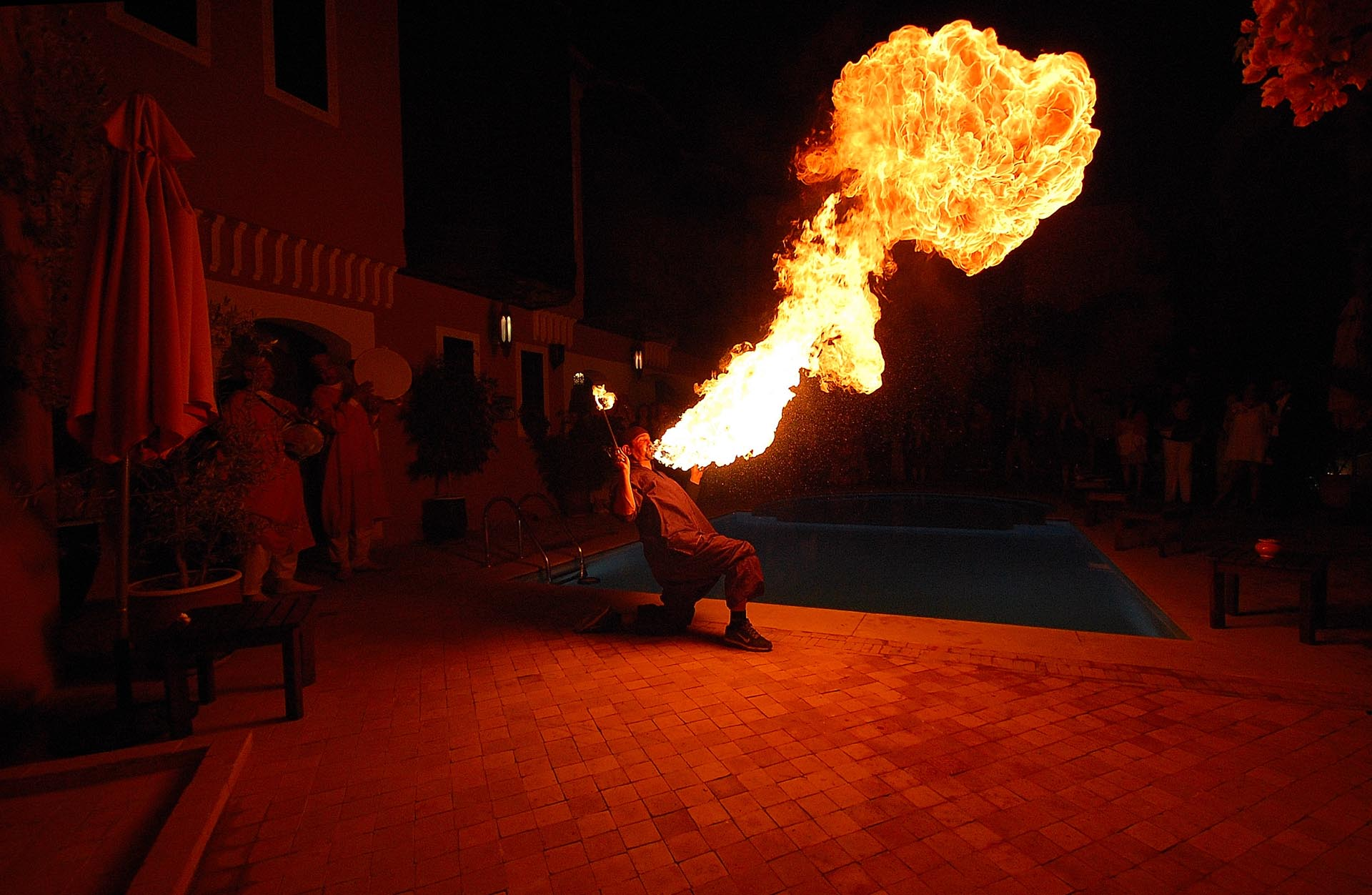 Fire Breather for the New Year party