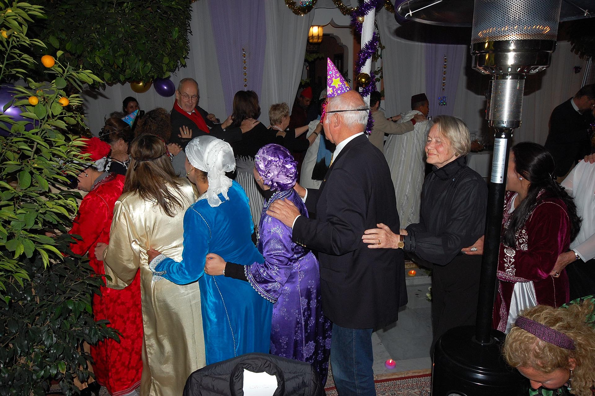 Guests and staff celebrating the New Year