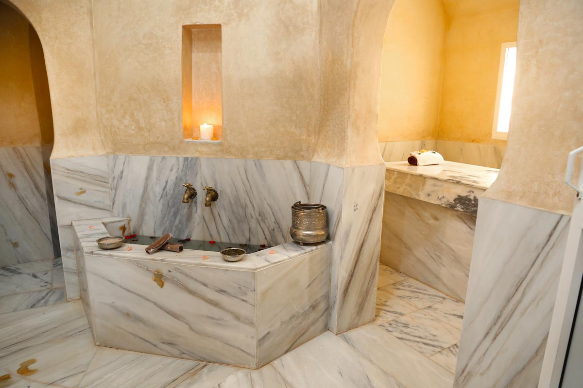 The marble-clad hammam