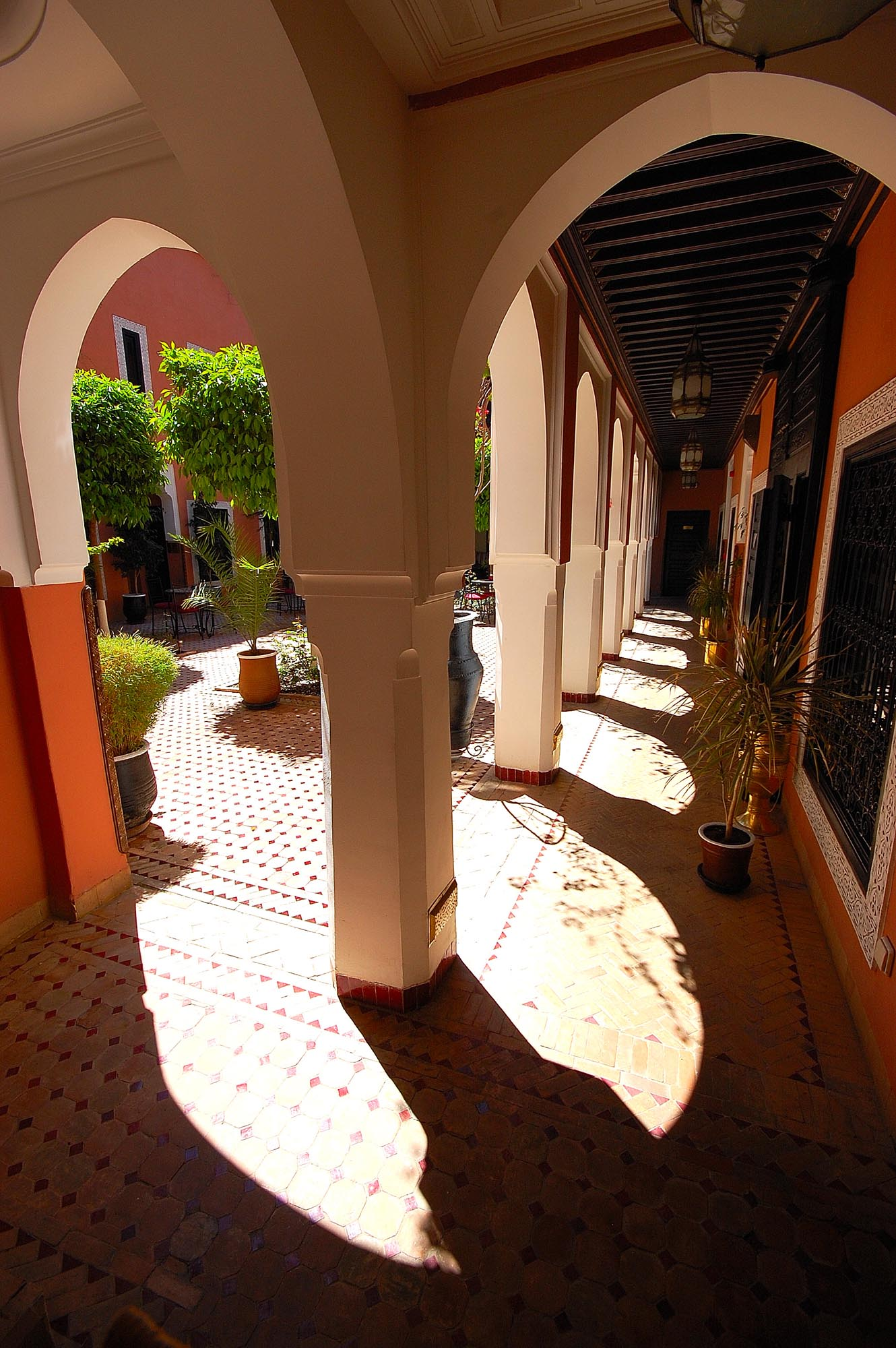 Leading on to the Main Patio