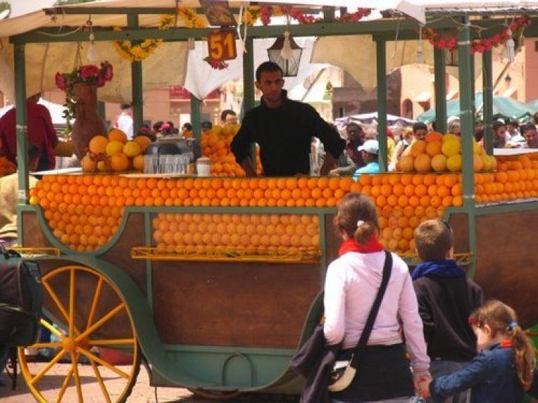 Orange stall
