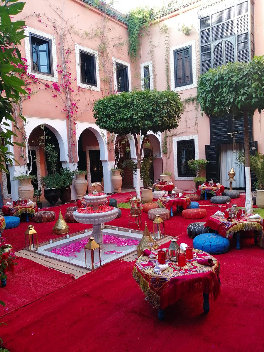 The Main Patio set up for a 50th Birthday Party