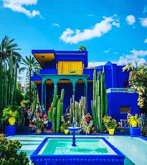 Mr Majorelle's house within the gardens