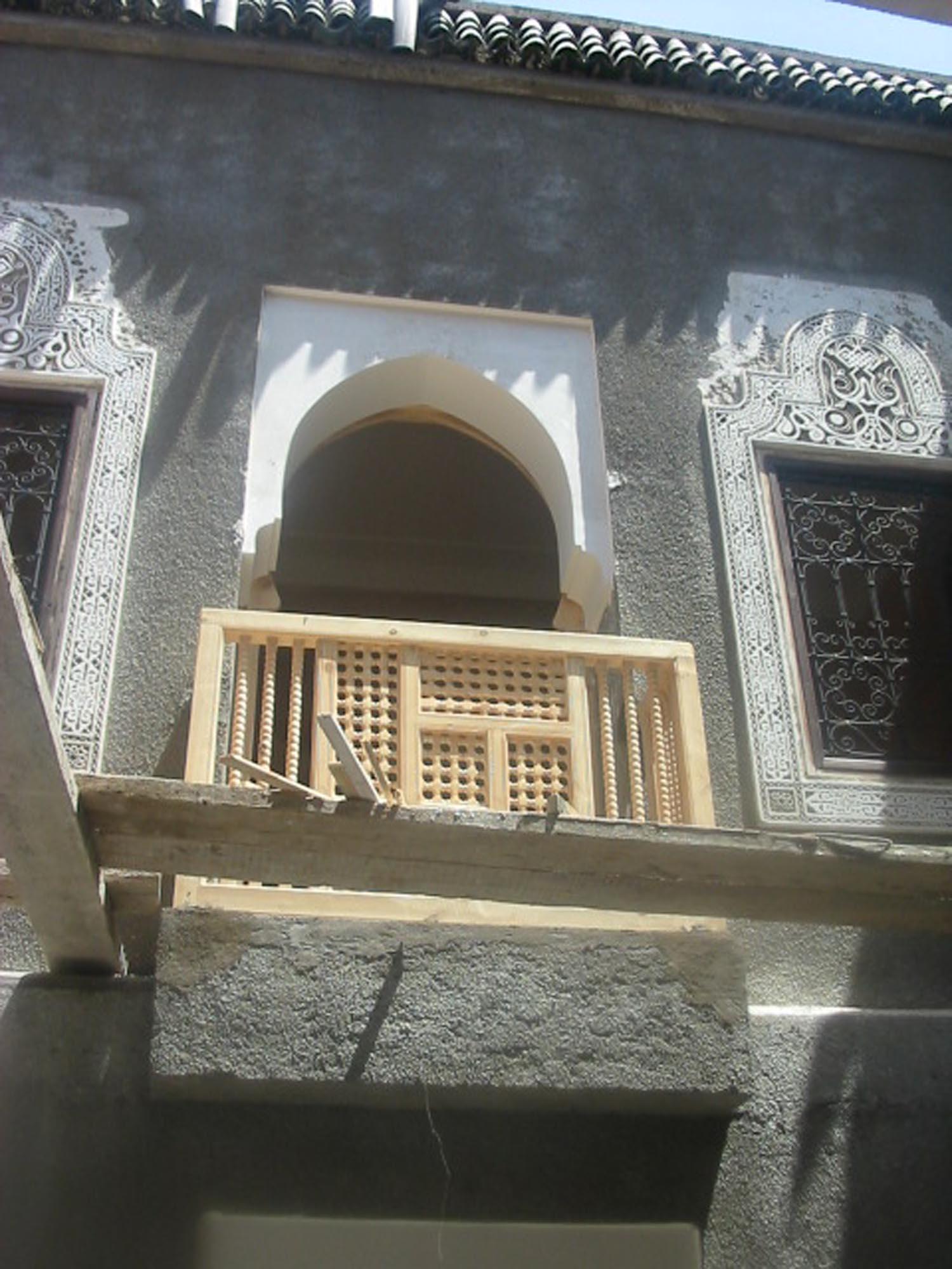 Small balcony of single room 104