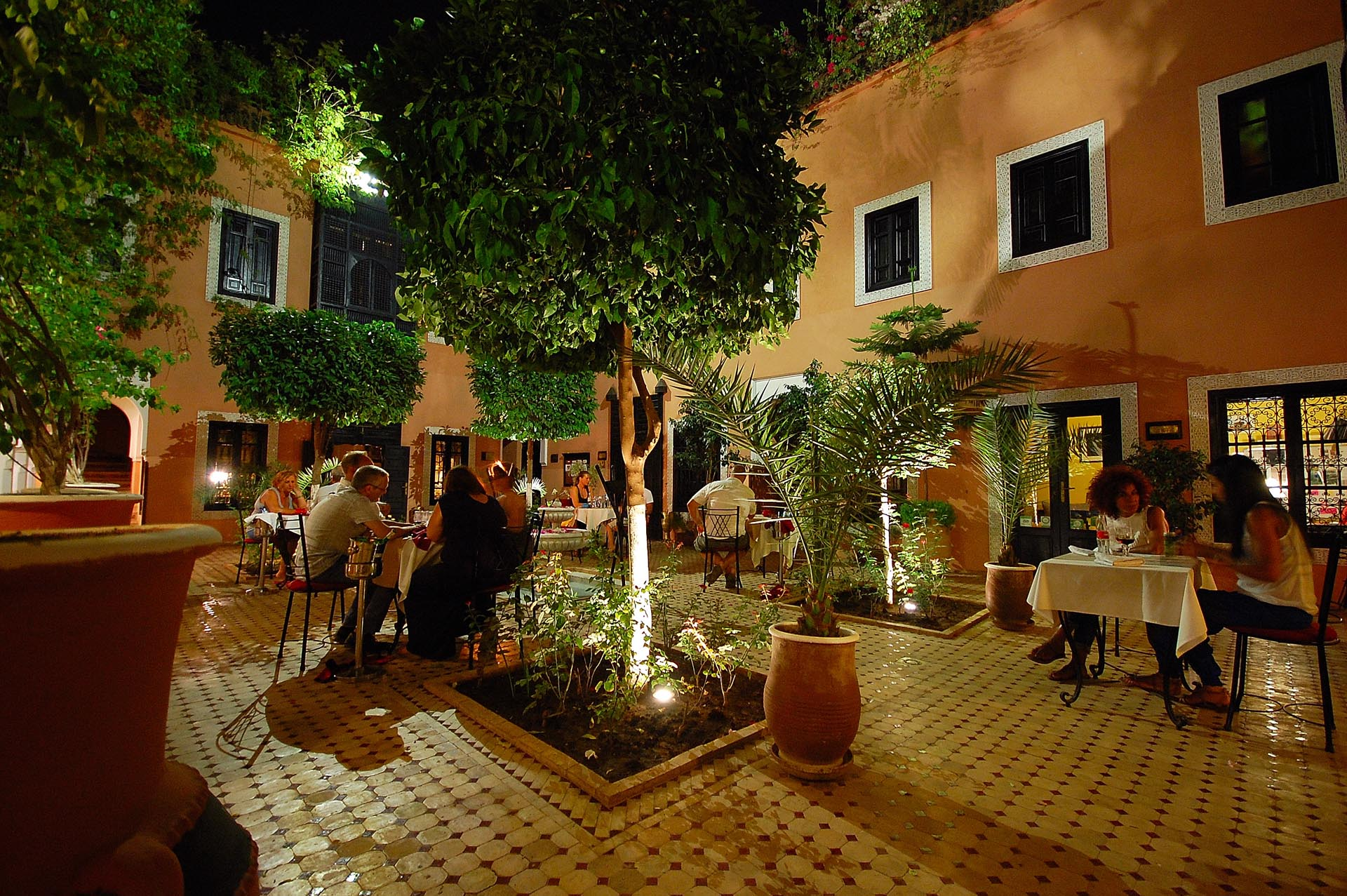 Dinner in the Main Patio